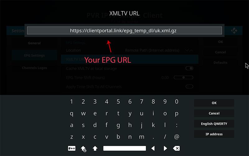 EPG URL