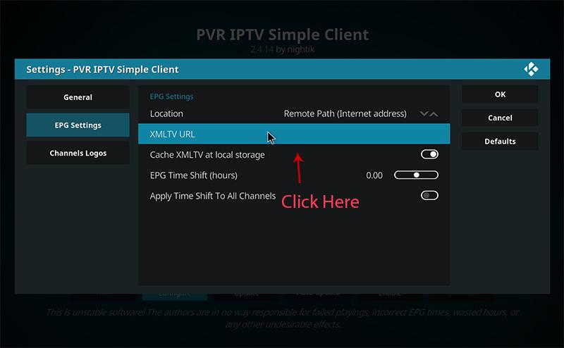 Kodi guide for IPTV