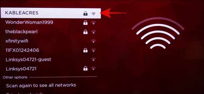 Roku WiFi Selection