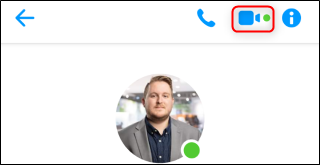 Facebook Messenger Video Chat Button