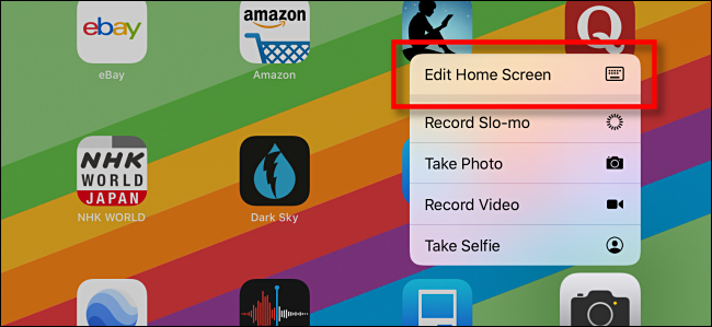 Edit home screen on ipad