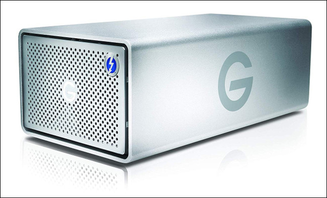 A G-Tech G-RAID Enclosure.
