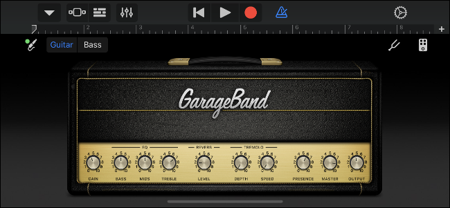 GarageBand Virtual Guitar Amp
