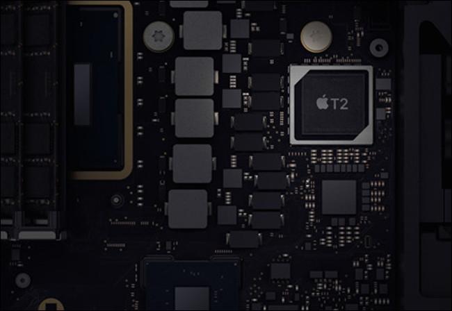 A T2 Security Chip in a 2019 Mac mini.