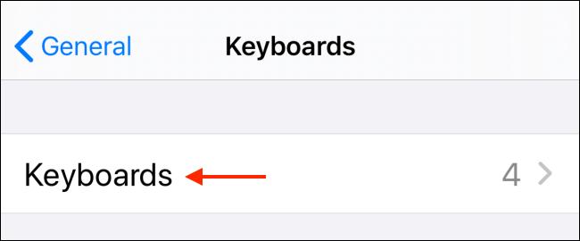 Tap Keyboards in Keyboard section