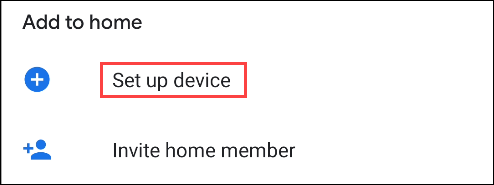 google home set up device
