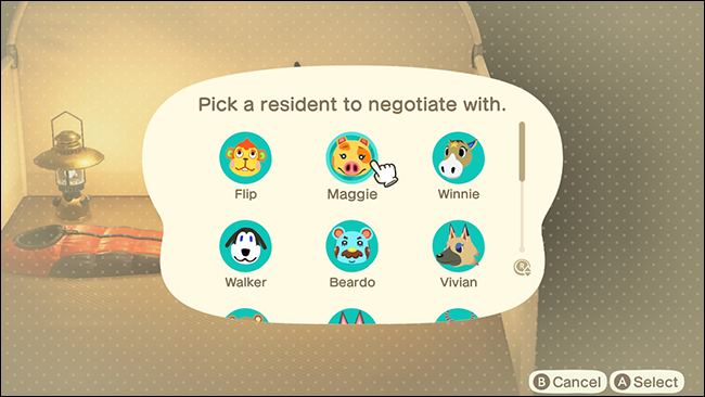 Animal Crossing New Horizons villager replacement