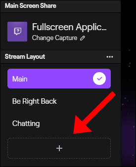 """Select an option in the """"Stream Layout"""" menu."""