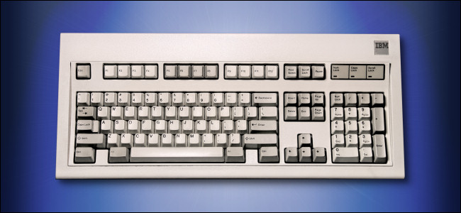 The IBM Model M Keyboard.