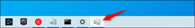 The Task Manager's taskbar shortcut icon.
