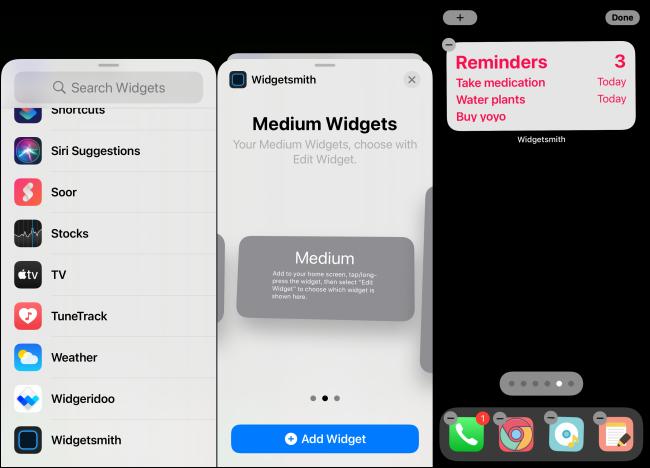 Adding Widgetsmith Widget