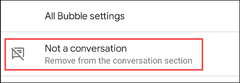 remove conversation from section