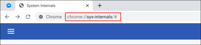 chromebook system internals URL