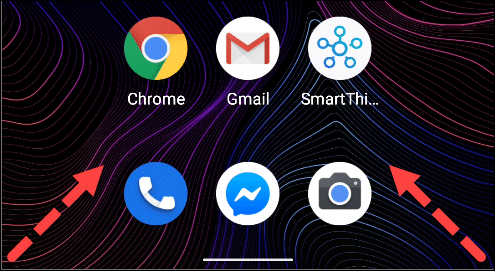 swipe to open google assistant