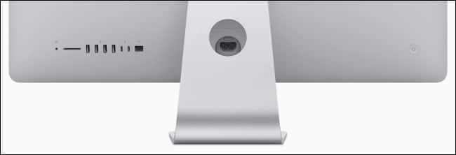 A 2019 Apple iMac I/O.