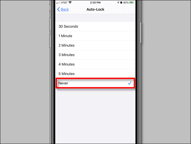 "Tap ""Never"" in ""Auto-Lock"" settings in iPhone Settings."