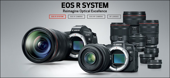 An ad for the Canon EOS R System mirrorless cameras.