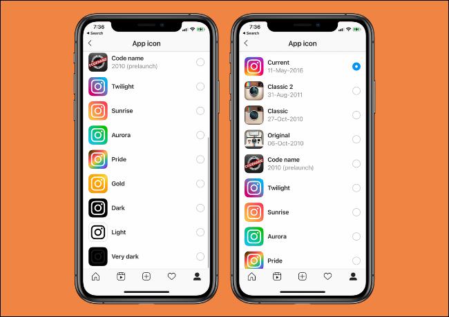 Instagram App Icon Options