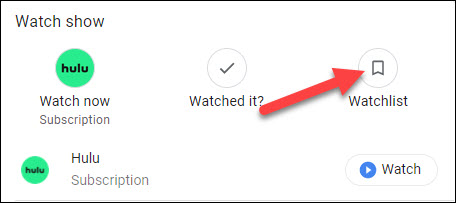 google tv watchlist