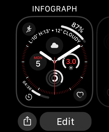 Edit Apple Watch Face