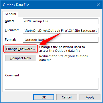 "The ""Change Password"" option."