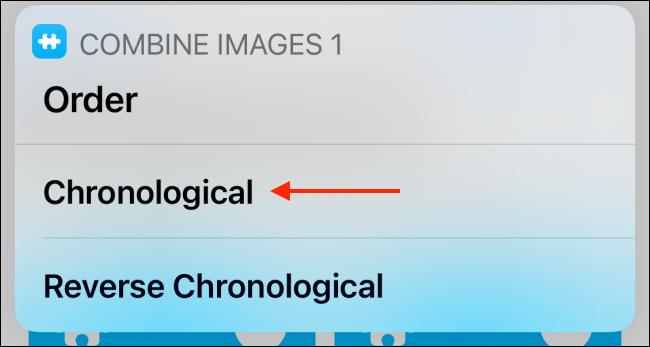 Tap Chronological