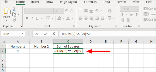 simple formula for sum of squares